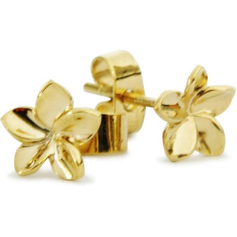 Frangipani Earrings In Gold